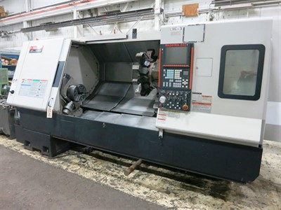 "MAZAK SQT 300MY/1500(NEXUS 350MY) CNC TURNING CENTER WITH MILLING & Y-AXIS (4"" BAR CAP.)"