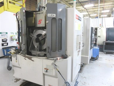 MAZAK FH 4000 CNC HORIZONTAL MACHINING CENTER