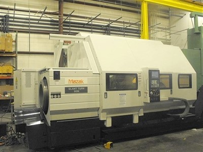 MAZAK SLANT TURN 80N 21.25 HOLE CNC CHUCKING CENTER