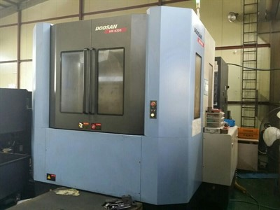 DOOSAN HM 6300 CNC 4TH AXIS HORIZONTAL MACHINING CENTER