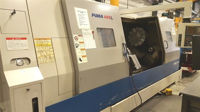 DOOSAN PUMA 400LB CNC UNIVERSAL TURNING CENTER WITH STEADY REST