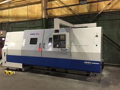 DOOSAN PUMA 400LC CNC UNIVERSAL TURNING CENTER W/STEADY REST