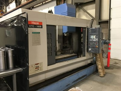 MAZAK VTC 160B CNC VERTICAL MACHINING CENTER