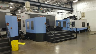 DOOSAN HM 1000 CNC 4 AXIS HORIZONTAL MACHINING CENTER