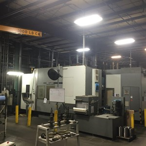 DMG DMC 100U DuoBlock 5 AXIS (2) MACHINE CELL W/ 45 PALLET FMS SYSTEM