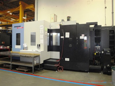 DOOSAN HM 800 CNC 4 AXIS HORIZONTAL MACHINING CENTER