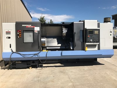DOOSAN PUMA 480L CNC UNIVERSAL TURNING CENTER  W/ HYDRAULIC STEADY REST