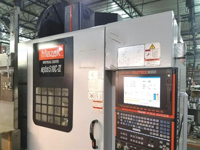 MAZAK NEXUS VCN 510CII 4 AXIS CNC VERTICAL MACHINING CENTER