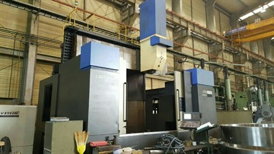 HWACHEON VTM 2000 CNC 3 AXIS VERTICAL TURNING LATHE W/ MILLING