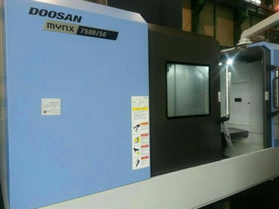 DOOSAN MYNX 7500 50 CNC VERTICAL MACHINING CENTER