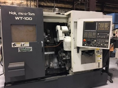 NAKAMURA WT 100MMYS TWIN TURRET, TWIN SPINDLE TURN MILL CENTER W/ Y-AXIS