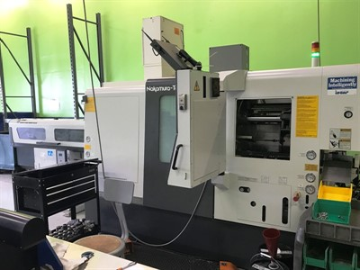 NAKAMURA WY 100 TWIN TURRET, TWIN SPINDLE TURN MILL CENTER W/ Y-AXIS