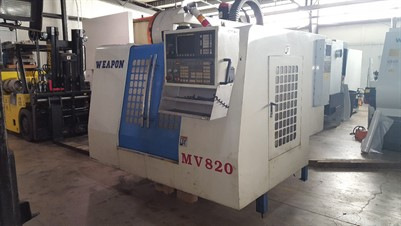 WEAPON MV 820 CNC VERTICAL MACHINING CENTER