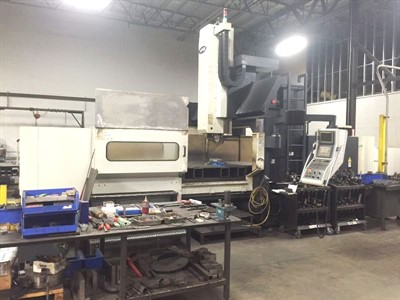 MIGHTY VIPER HB 3190 CNC BRIDGE TYPE VERTICAL MACHINING CENTER