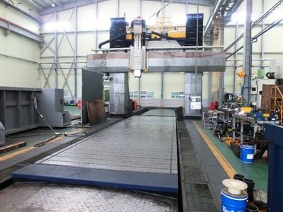 HNK HPM-30M X 10M CNC BRIDGE TYPE VERTICAL MACHINING CENTER